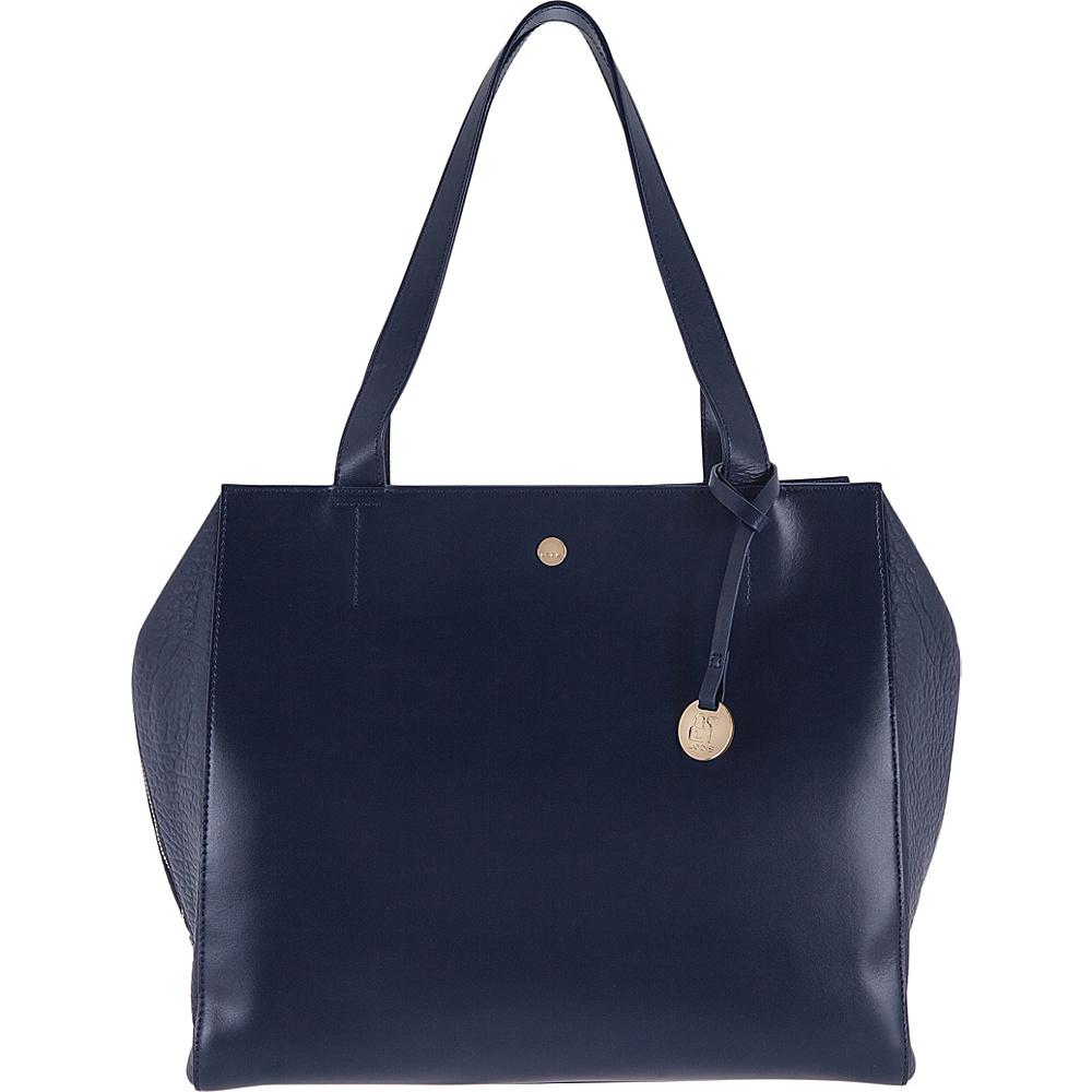 Lodis In The Mix RFID Doris Work Satchel Navy - Lodis Leather Handbags - Handbags, Leather Handbags