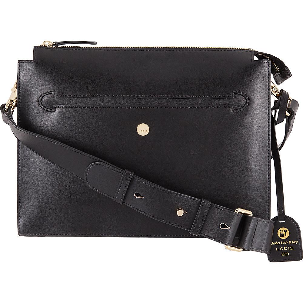 Lodis Downtown RFID Dalia Large Accordion Crossbody Black - Lodis Leather Handbags - Handbags, Leather Handbags