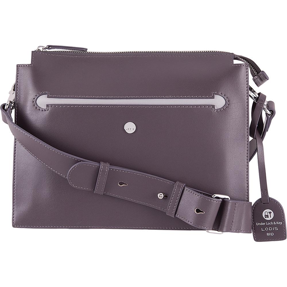Lodis Downtown RFID Dalia Large Accordion Crossbody Cement/Lava - Lodis Leather Handbags - Handbags, Leather Handbags