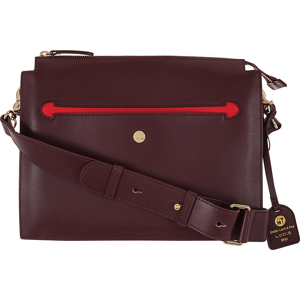 Lodis Downtown RFID Dalia Large Accordion Crossbody Red/Chianti - Lodis Leather Handbags - Handbags, Leather Handbags