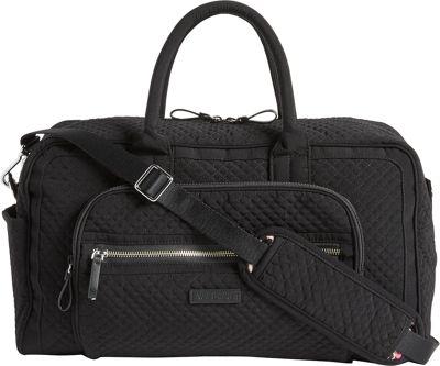 Vera Bradley Iconic Compact Weekender Travel Bag - Solids Classic Black - Vera Bradley Travel Duffels