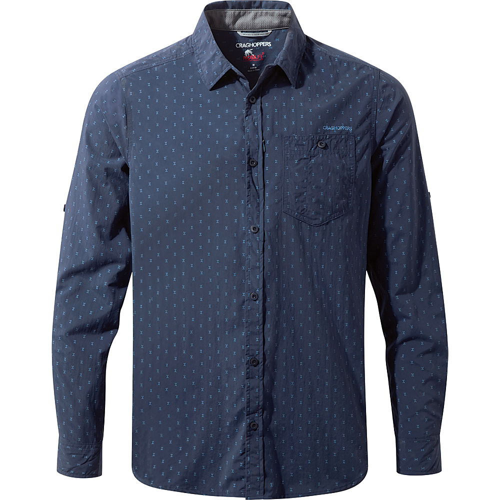 Craghoppers NosiLife Todd Long Sleeve Shirt S - Night Blue Combo - Craghoppers Mens Apparel - Apparel & Footwear, Men's Apparel