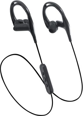 LAX Gadgets Sweatproof In-Ear Bluetooth Headphones with SecureHooks and Mic Black - LAX Gadgets Headphones & Speakers