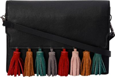 Phive Rivers Flapover Multi-Color Tassel Crossbody Green - Phive Rivers Leather Handbags