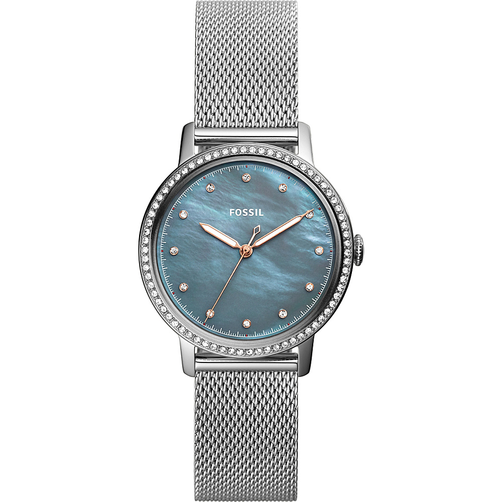 Fossil Neely Three-Hand Stainless Steel Watch Silver - Fossil Watches - Fashion Accessories, Watches