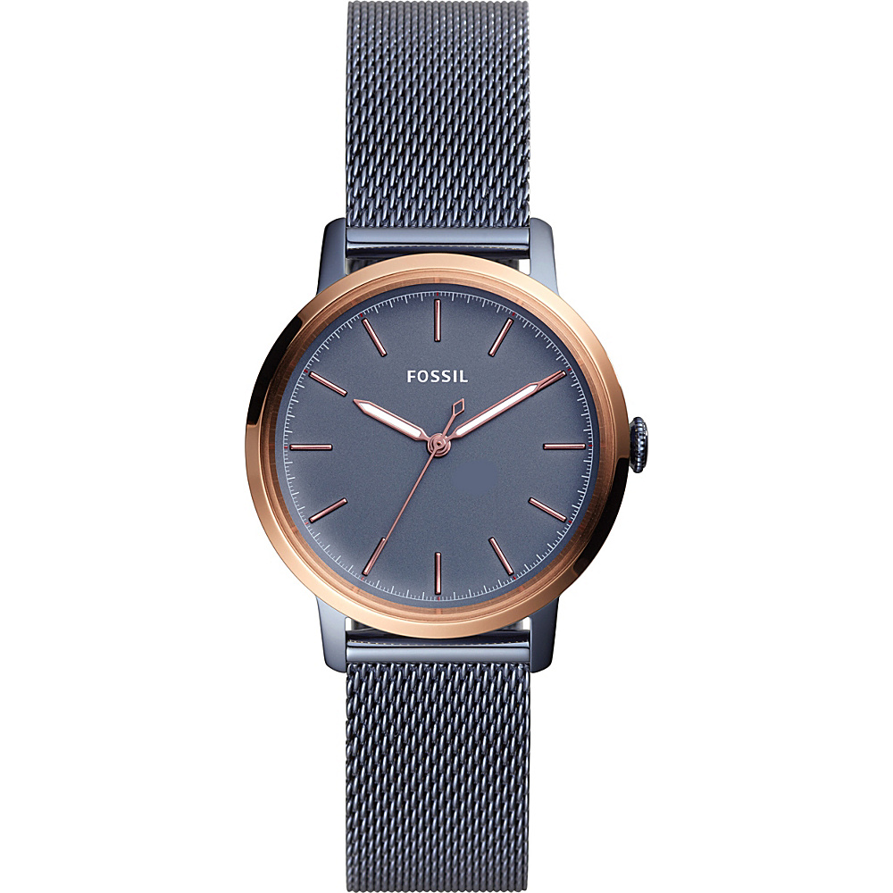 Fossil Neely Three-Hand Stainless Steel Watch Blue - Fossil Watches - Fashion Accessories, Watches