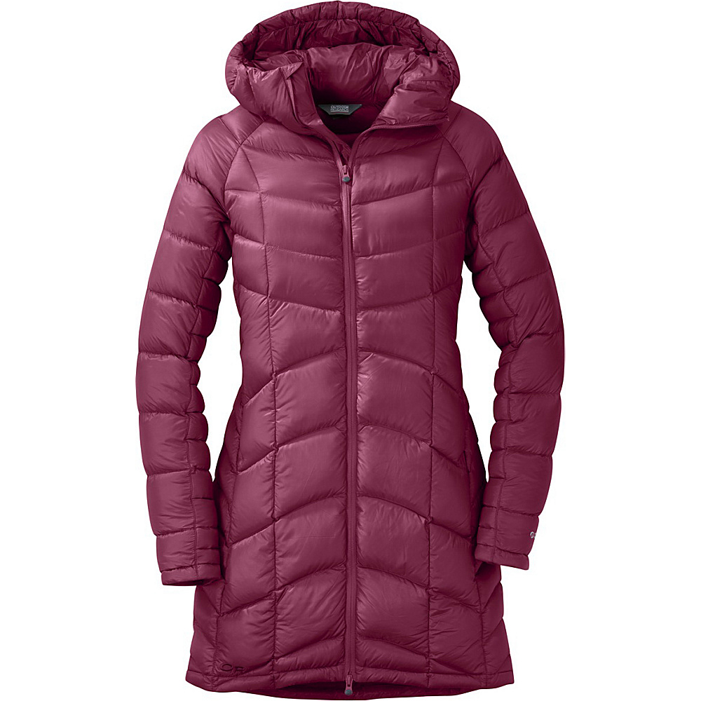 Outdoor Research Womens Sonata Ultra Down Parka L - Raspberry - Outdoor Research Womens Apparel - Apparel & Footwear, Women's Apparel
