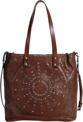 Old Trend Stars Align Crossbody Tote Cognac - Old Trend Leather Handbags