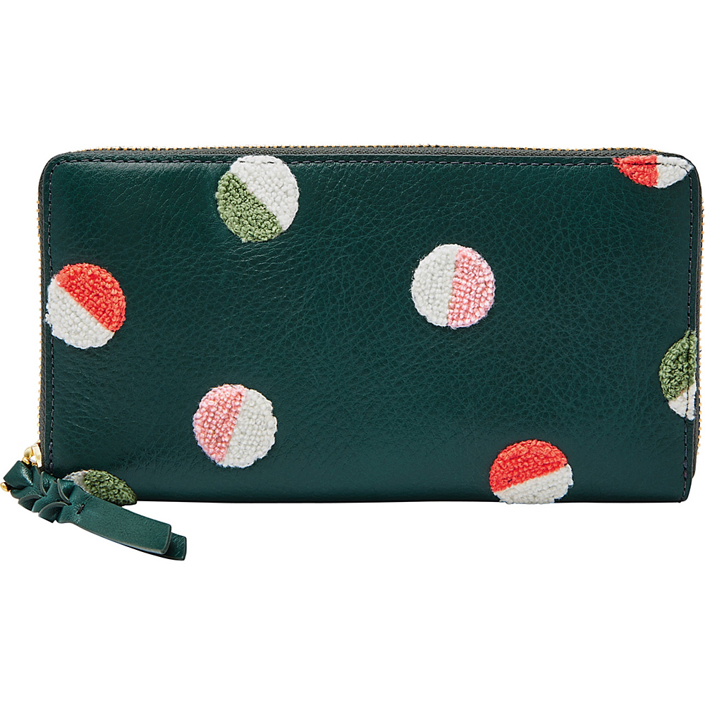 Fossil Caroline RFID Zip Around Wallet Green Multi - Fossil Womens Wallets - Women's SLG, Women's Wallets