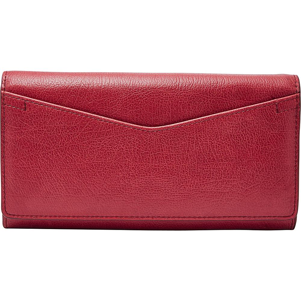 Fossil Caroline RFID Continental Flap Wallet Red Velvet - Fossil Womens Wallets - Women's SLG, Women's Wallets