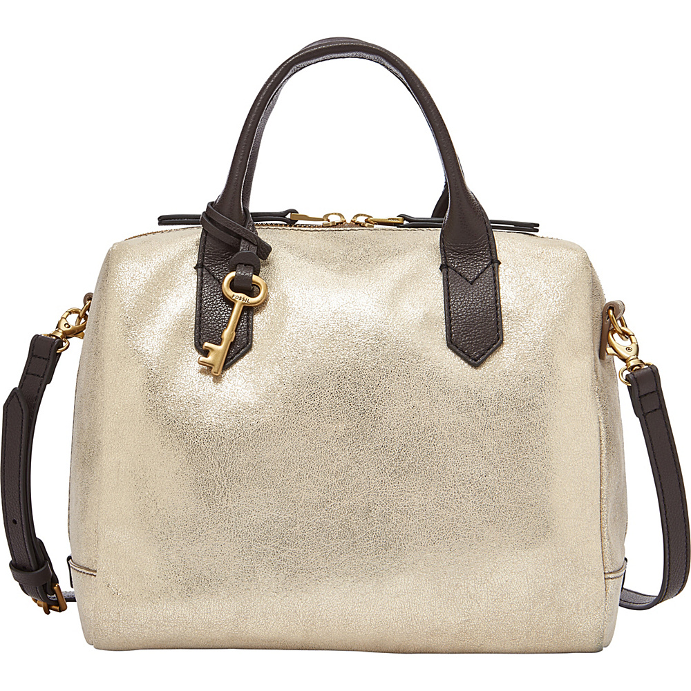 Fossil Fiona Satchel Pale Gold Metallic - Fossil Leather Handbags - Handbags, Leather Handbags