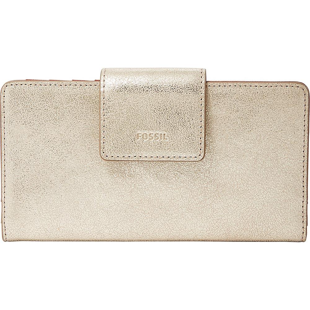 Fossil Emma RFID Tab Clutch Gold - Fossil Womens Wallets - Women's SLG, Women's Wallets