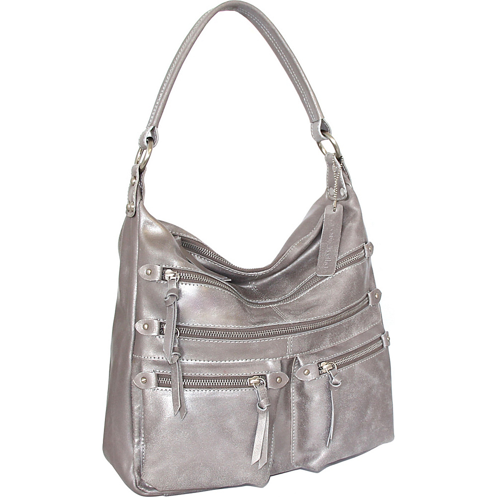 Nino Bossi Heather Shoulder Bag Pewter - Nino Bossi Leather Handbags - Handbags, Leather Handbags