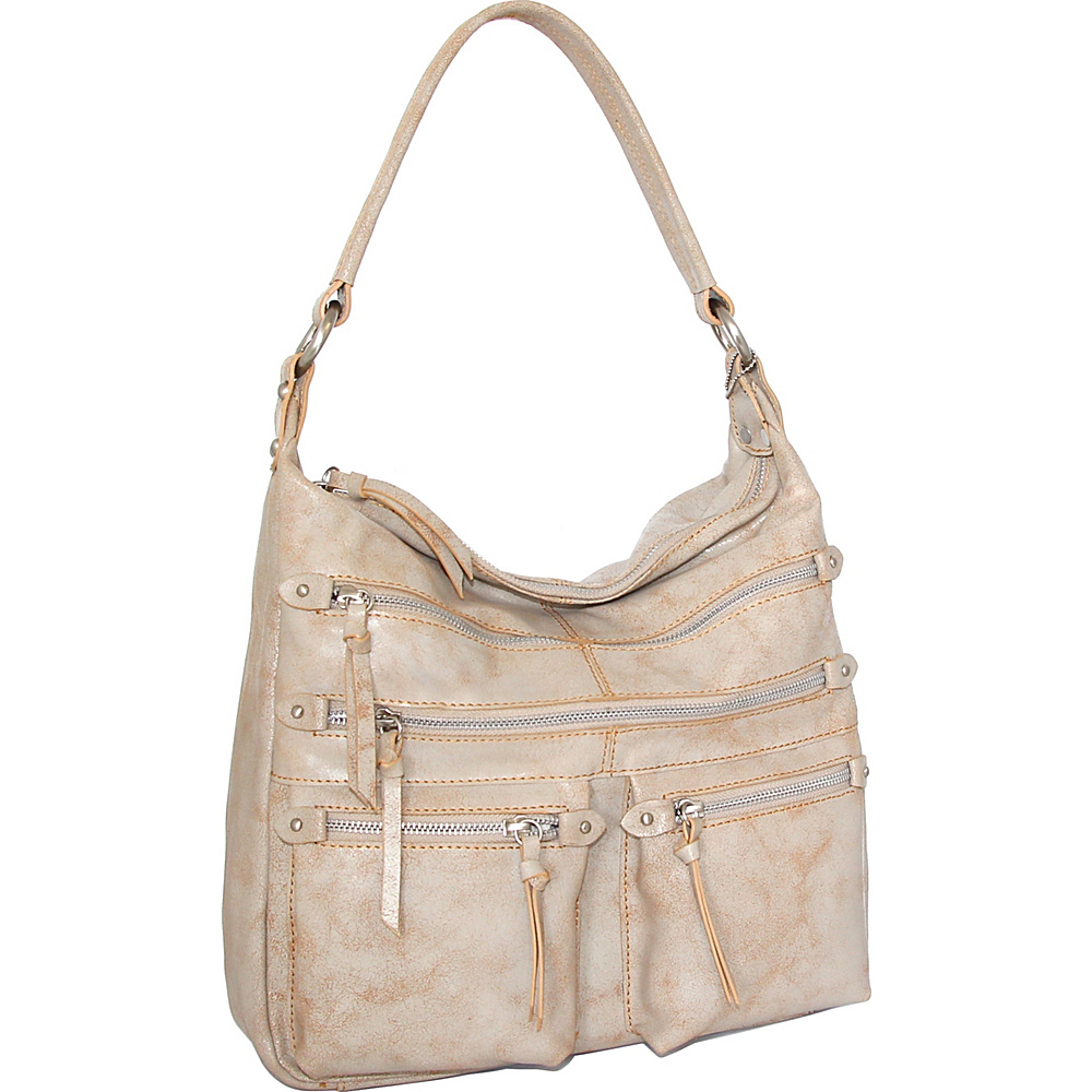 Nino Bossi Heather Shoulder Bag White/Beige - Nino Bossi Leather Handbags - Handbags, Leather Handbags