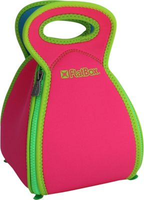 FlatBox Original Placemat Lunch Bag Hot Pink/Green/Blue - FlatBox Travel Coolers