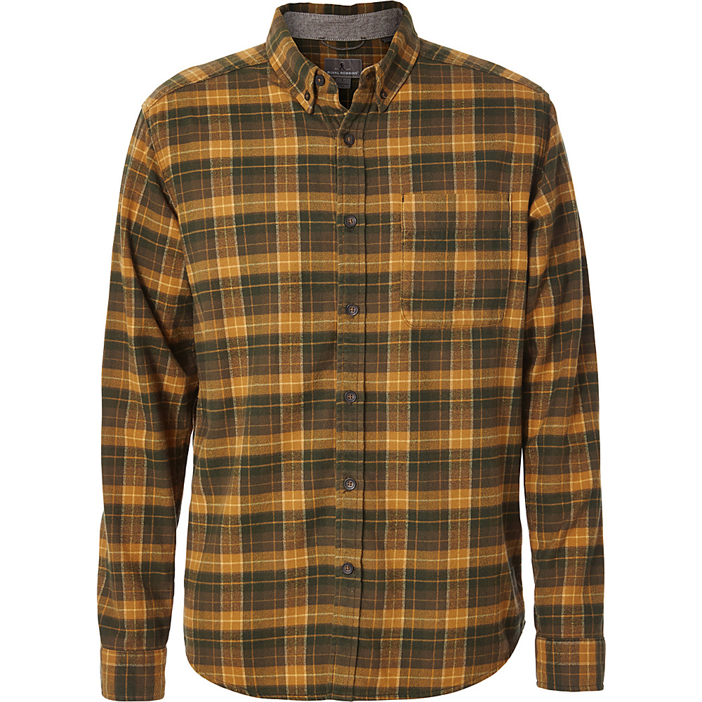 Royal Robbins Mens Lieback Flannel Long Sleeve Shirt M - Everglade - Royal Robbins Mens Apparel - Apparel & Footwear, Men's Apparel