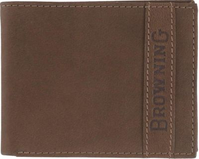 Browning Cowboy Bi-Fold Wallet Brown - Browning Men's Wallets