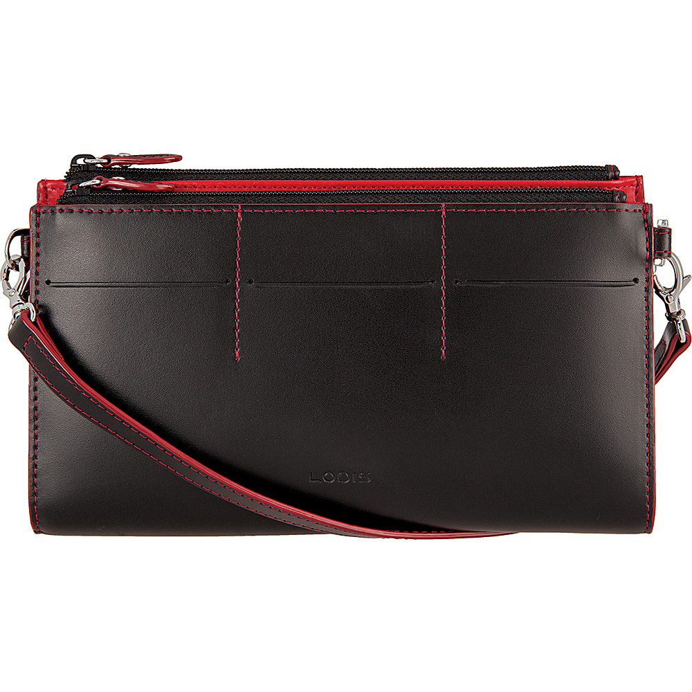Lodis Audrey Fairen Clutch Crossbody - Discontinued Colors Black - Lodis Leather Handbags - Handbags, Leather Handbags