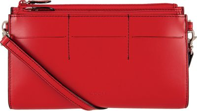 Lodis Audrey Fairen Clutch Crossbody - Discontinued Colors Red - Lodis Leather Handbags