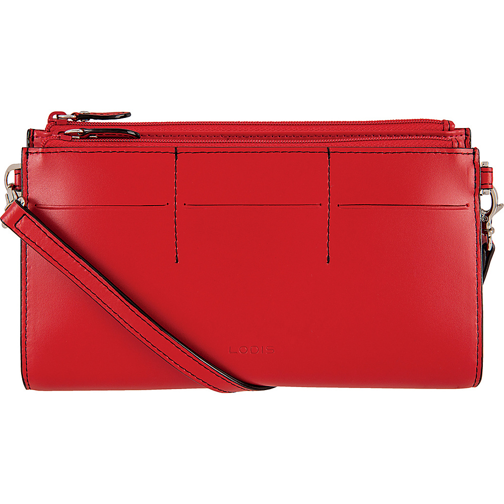Lodis Audrey Fairen Clutch Crossbody - Discontinued Colors Red - Lodis Leather Handbags - Handbags, Leather Handbags
