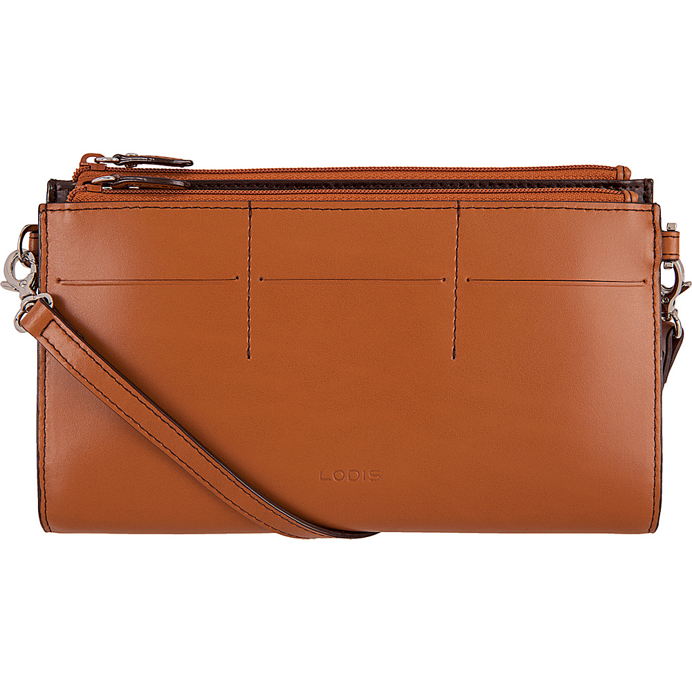 Lodis Audrey Fairen Clutch Crossbody - Discontinued Colors Toffee - Lodis Leather Handbags - Handbags, Leather Handbags