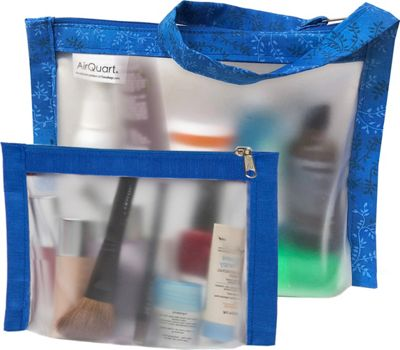 Flanabags TSA Travel Duo - Approved Clear Carry-on Quart Size 2 Bag Set Blue - Flanabags Travel Organizers