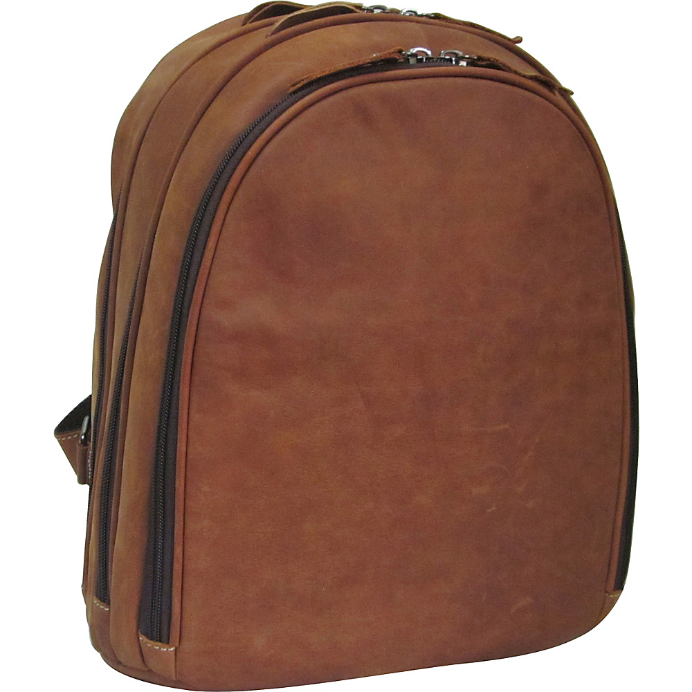 AmeriLeather Cosmo Leather Laptop Backpack Brown - AmeriLeather Business & Laptop Backpacks - Backpacks, Business & Laptop Backpacks