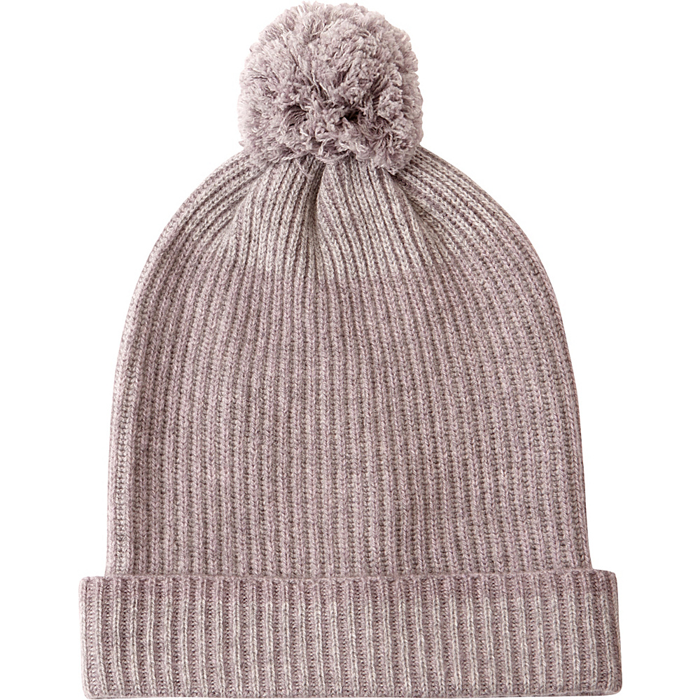 Kinross Cashmere Plaited Rib Hat One Size - Thistle/Sterling - Kinross Cashmere Hats/Gloves/Scarves - Fashion Accessories, Hats/Gloves/Scarves