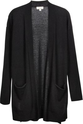 Kinross Cashmere High Split Rib Trim Cardigan XS - Black - Kinross Cashmere Women's Apparel