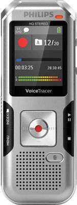 Philips Speech Voice Tracer with Auto Adjust Recording Silver - Philips Speech Portable Entertainment