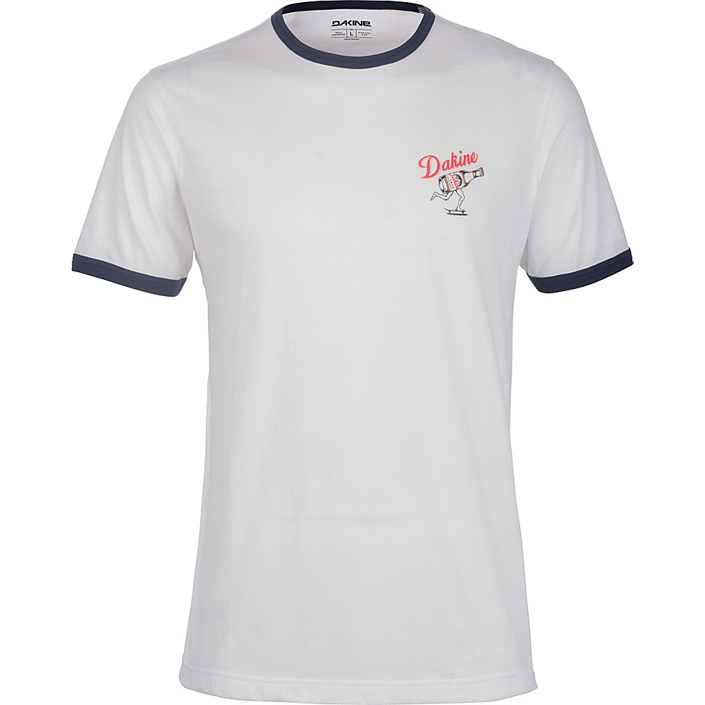 DAKINE Mens Kelso Ringer Tee L - White/Midnight - DAKINE Mens Apparel - Apparel & Footwear, Men's Apparel