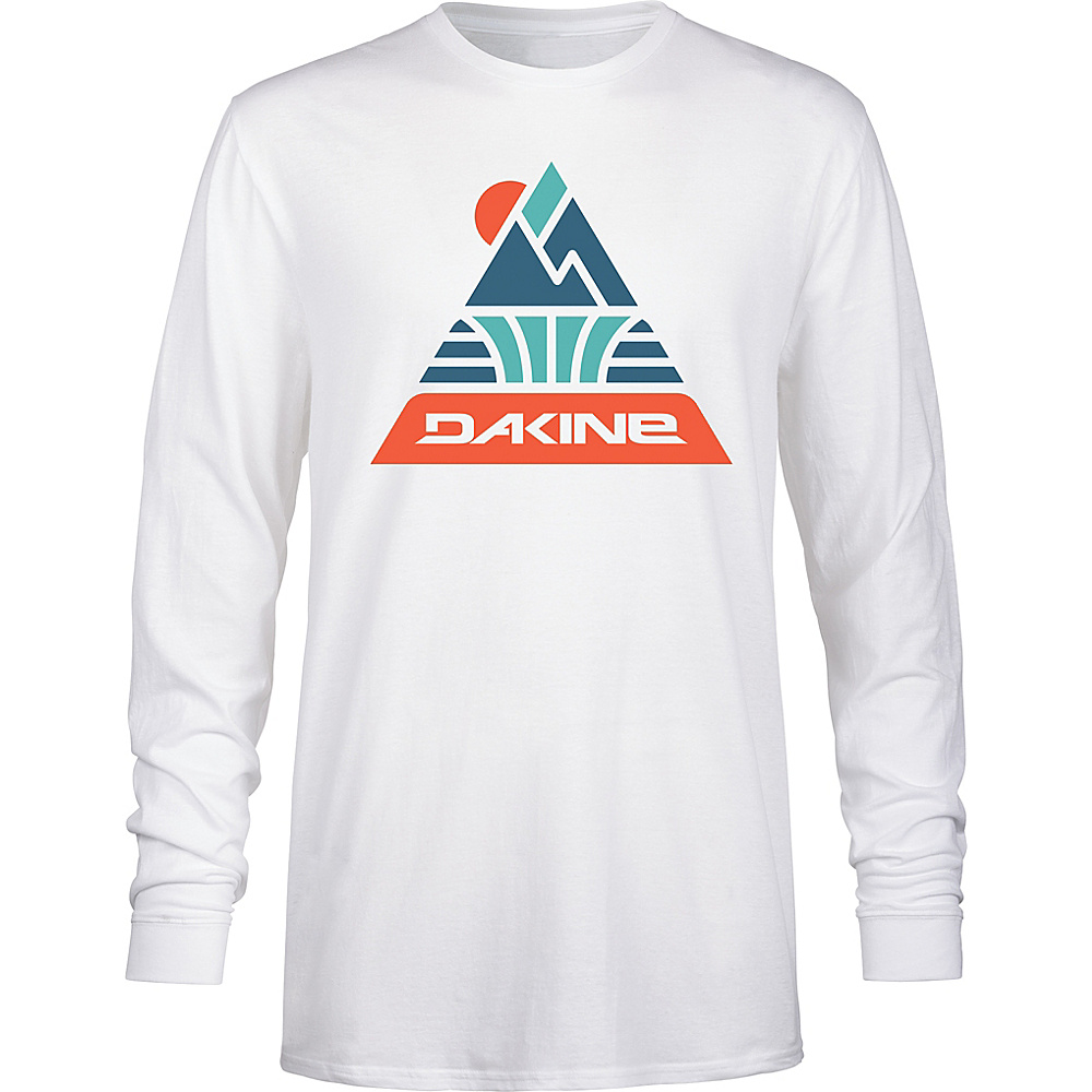 DAKINE Mens Triangle Peak Long Sleeve T-Shirt M - White - DAKINE Mens Apparel - Apparel & Footwear, Men's Apparel