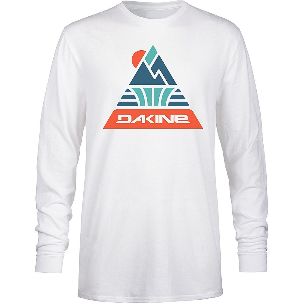 DAKINE Mens Triangle Peak Long Sleeve T-Shirt L - White - DAKINE Mens Apparel - Apparel & Footwear, Men's Apparel