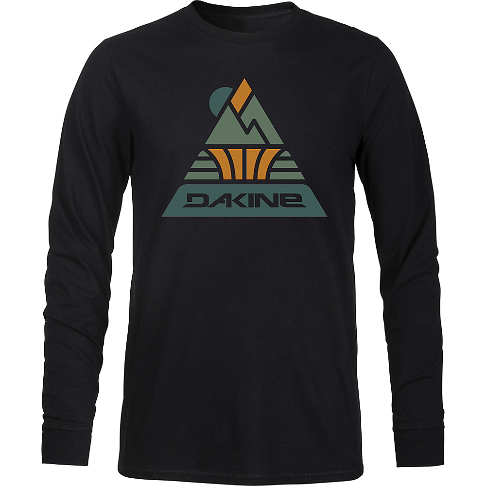 DAKINE Mens Triangle Peak Long Sleeve T-Shirt M - Black - DAKINE Mens Apparel - Apparel & Footwear, Men's Apparel