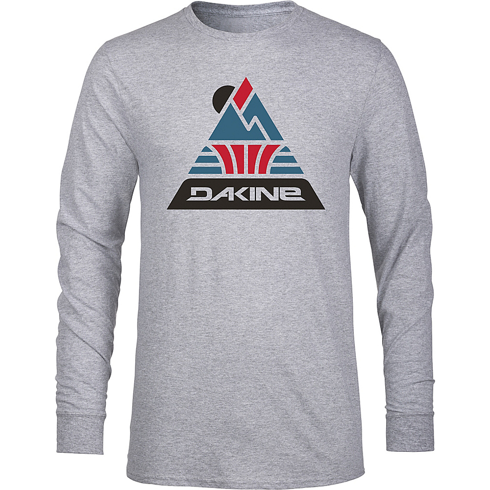 DAKINE Mens Triangle Peak Long Sleeve T-Shirt M - Grey Heather - DAKINE Mens Apparel - Apparel & Footwear, Men's Apparel