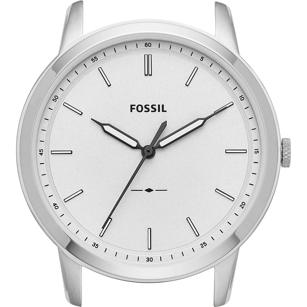 Fossil The Minimalist Slim Three-Hand White Watch Case Silver - Fossil Watches - Fashion Accessories, Watches