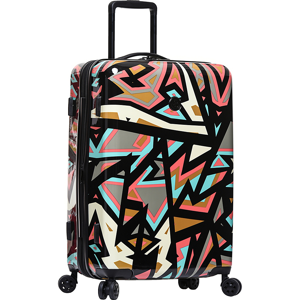 BODY GLOVE Long Lat Inner City 26″ Expandable Hardside Checked Spinner Luggage Black Multi – BODY GLOVE Long Lat Hardside Checked