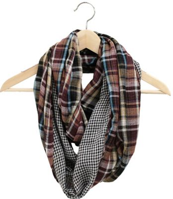 FITS Reversible Eternity Scarf Port/Plaid - FITS Hats/Gloves/Scarves