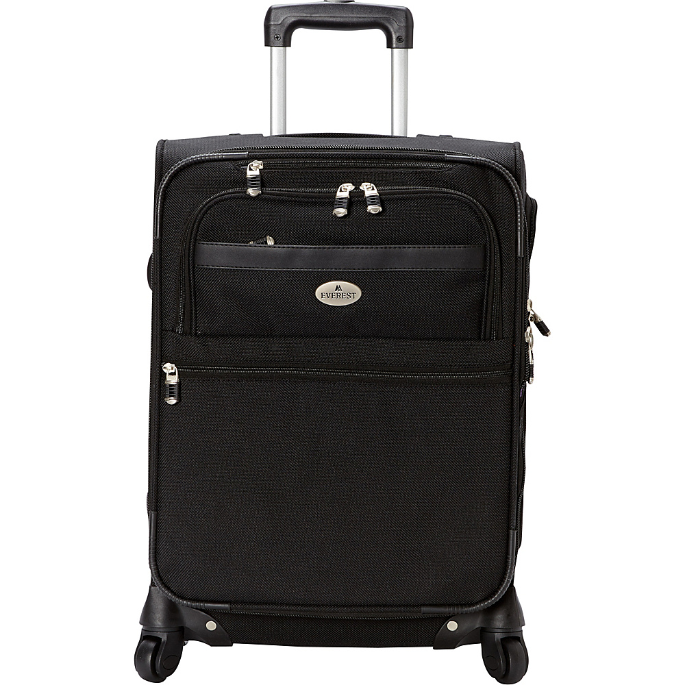 Everest 21 Expandable Carry-On Spinner Luggage Black - Everest Softside Carry-On - Luggage, Softside Carry-On