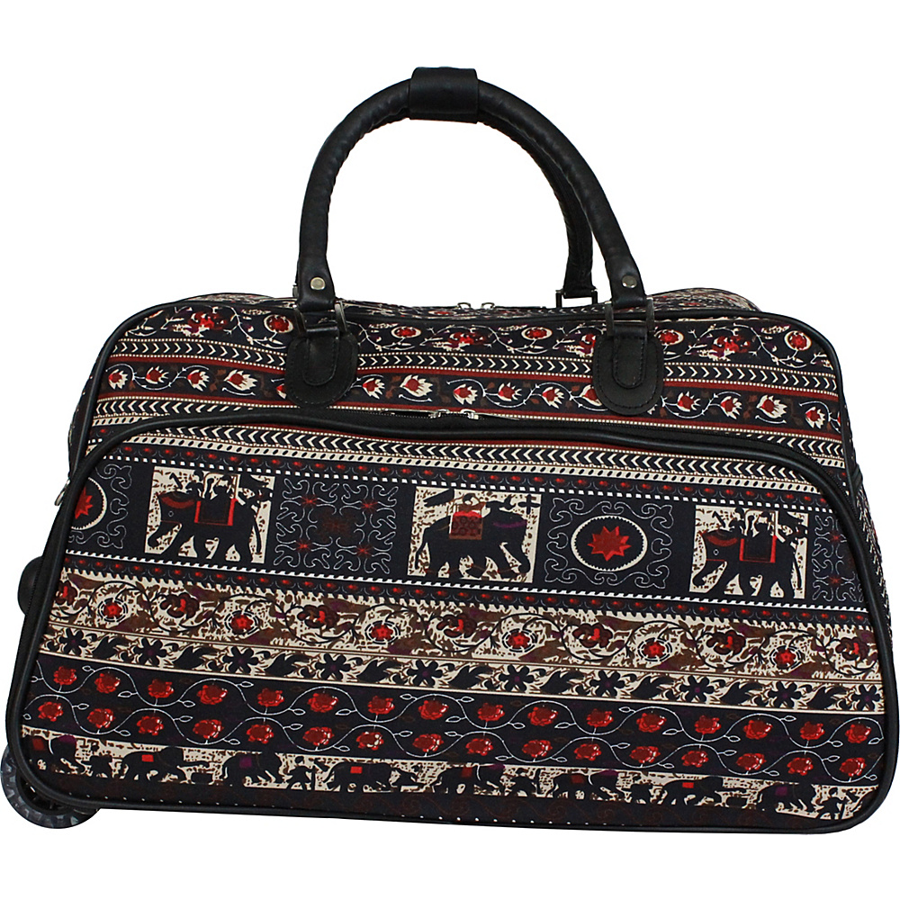 World Traveler Elephant 21 Carry-On Rolling Duffel Bag Elephant - World Traveler Travel Duffels - Duffels, Travel Duffels