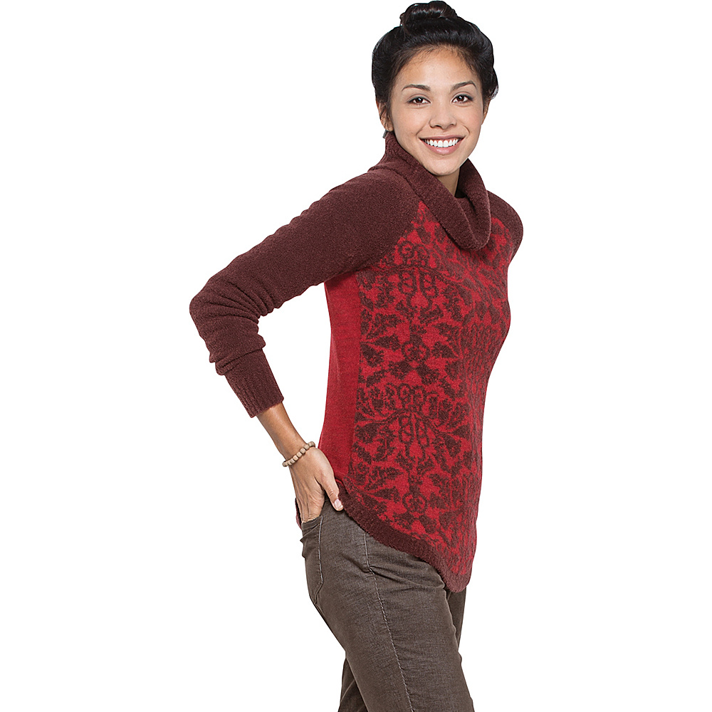 Toad & Co Lucianna T-Neck Sweater XS - Mahogany - Toad & Co Womens Apparel - Apparel & Footwear, Women's Apparel