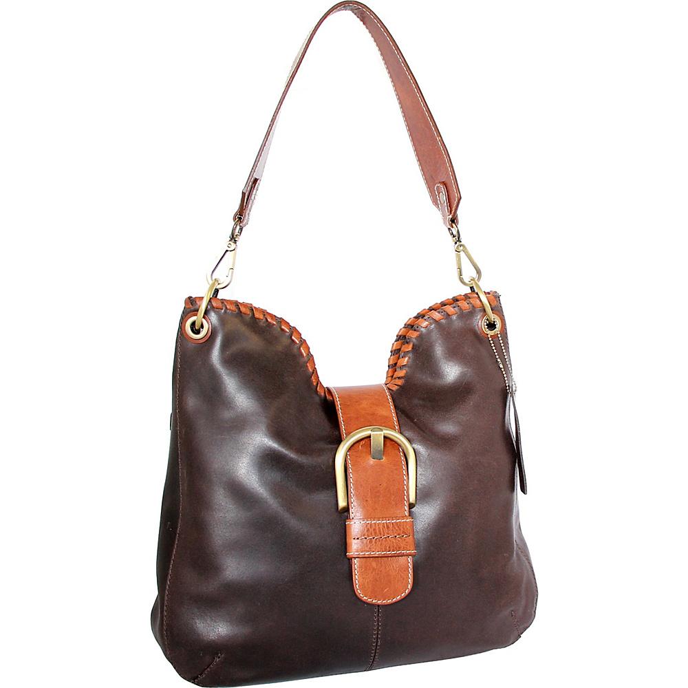 Nino Bossi Daelyn Shoulder Bag Chocolate - Nino Bossi Leather Handbags - Handbags, Leather Handbags