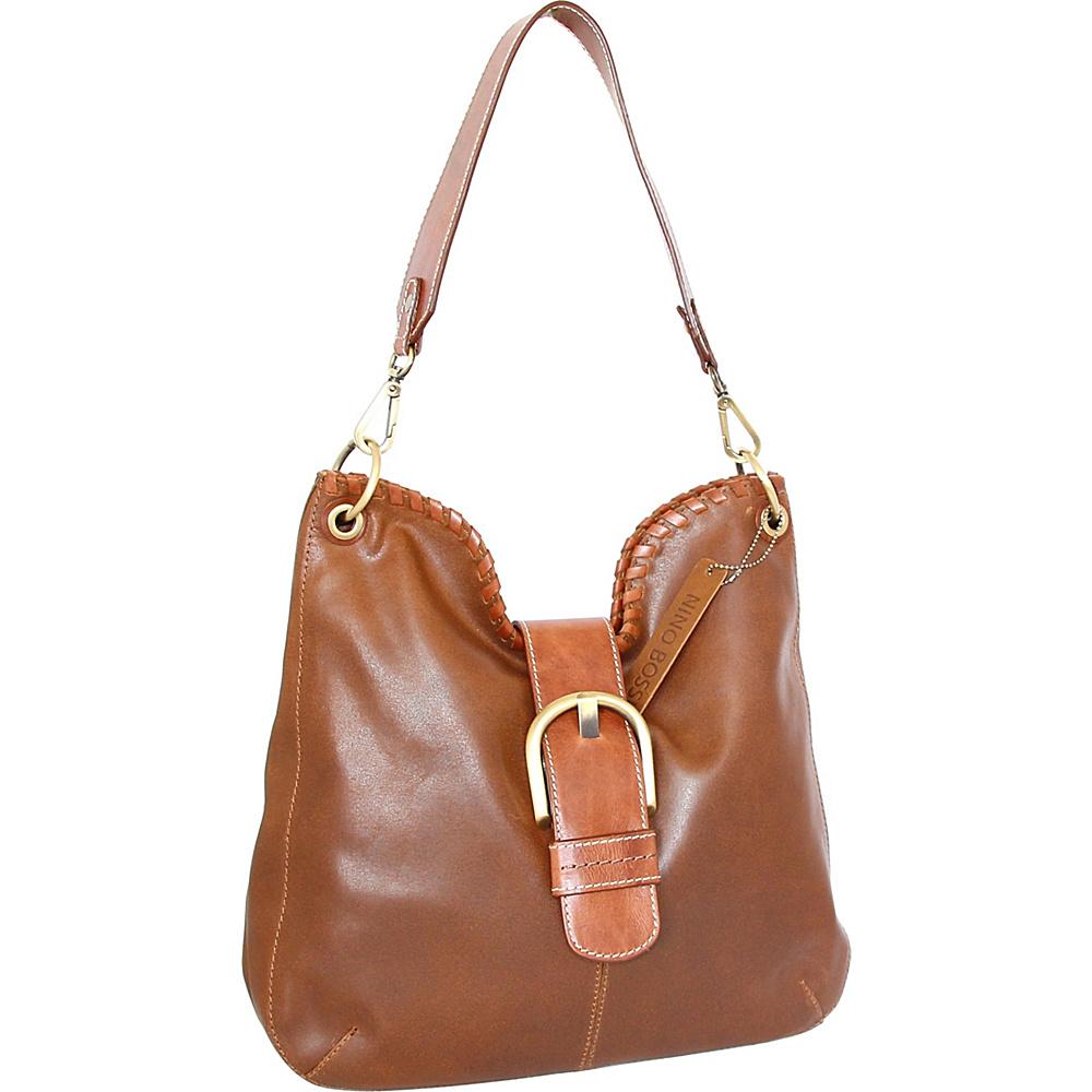 Nino Bossi Daelyn Shoulder Bag Saddle - Nino Bossi Leather Handbags - Handbags, Leather Handbags