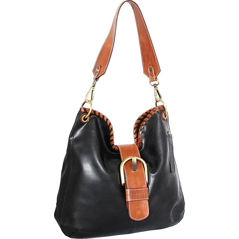 Nino Bossi Daelyn Shoulder Bag Black - Nino Bossi Leather Handbags - Handbags, Leather Handbags