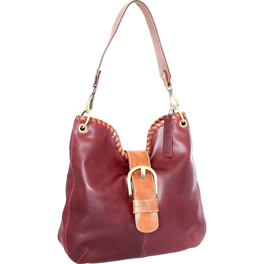 Nino Bossi Daelyn Shoulder Bag Plum - Nino Bossi Leather Handbags - Handbags, Leather Handbags