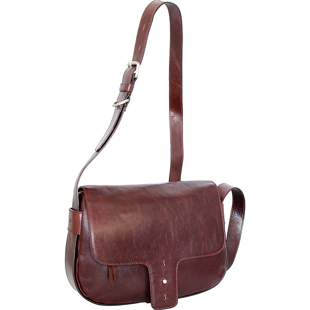 Nino Bossi Kalea Crossbody Walnut - Nino Bossi Leather Handbags - Handbags, Leather Handbags
