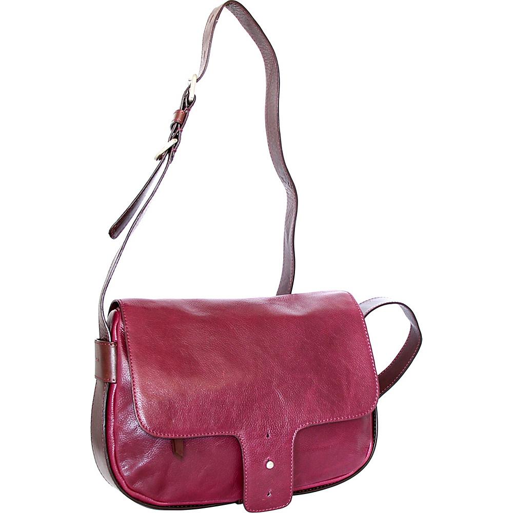 Nino Bossi Kalea Crossbody Plum - Nino Bossi Leather Handbags - Handbags, Leather Handbags