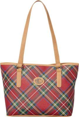 Aurielle-Carryland Tartan Plaid Tote Tartan Plaid - Aurielle-Carryland Manmade Handbags