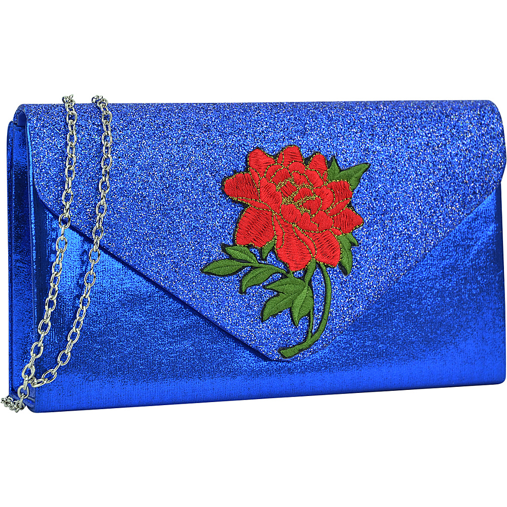 Dasein Fashion Frosted Evening Clutch Royal Blue - Dasein Evening Bags - Handbags, Evening Bags