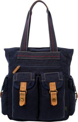 TSD Atona Utility Tote Navy - TSD Fabric Handbags